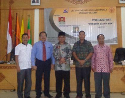 UPT Pengembangan Kemahasiswaan Unja Adakan Workshop