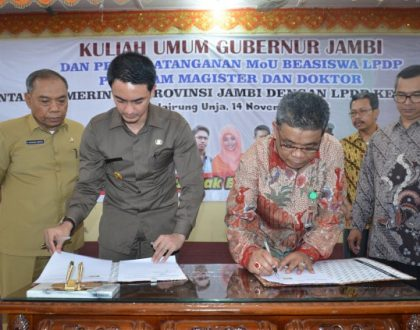 Unja Signed MoU of Scholarship with LPDP