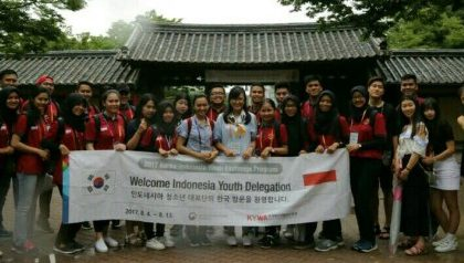 SAFRUN ROBIALLAH, DELEGASI UNJA PADA INDONESIA-KOREA YOUTH EXCHANGE PROGRAM 2017