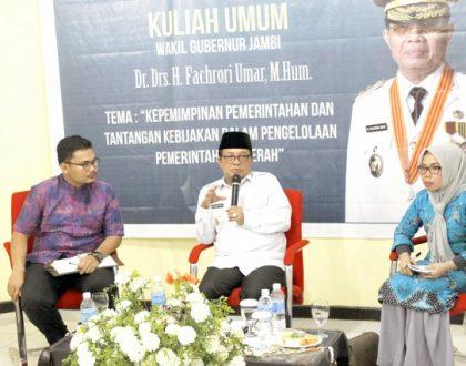 Fisipol Adakan Kuliah Umum bersama Wakil Gubernur Jambi di Kampus Unja Mendalo