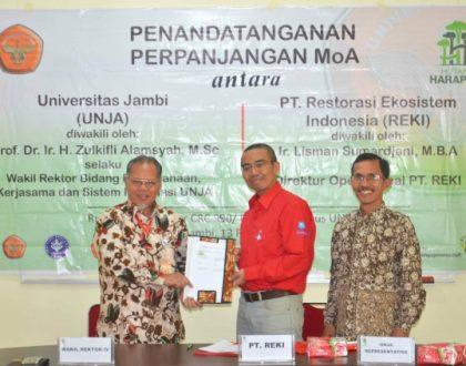 PENANDATANGANAN PERPANJANGAN MoA ANTARA UNJA DAN PT. RESTORASI EKOSISTEM INDONESIA