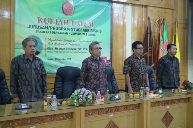 Prodi Agribisnis Selenggarakan Kuliah Umum Universitas Jambi