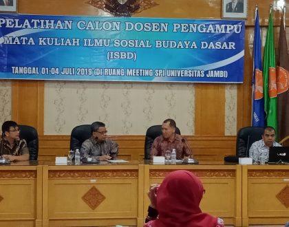 Workshop Calon Dosen Pengampu Mata Kuliah Ilmu Sosial Budaya Dasar (ISBD)